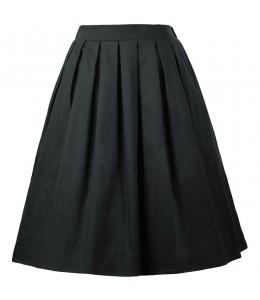 Jednoduchá čierna vintage sukňa