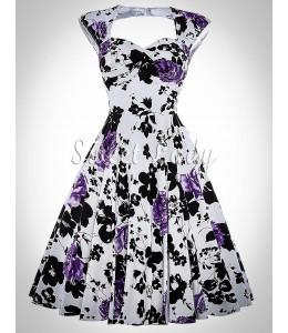 Nádherné kvetované vintage šaty