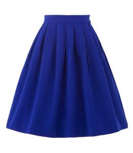 Áčková modrá retro sukňa