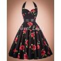 Prekrásne kvetinové šaty v štýle 50. rokov