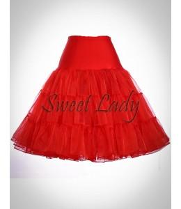 Červená retro spodnička 13
