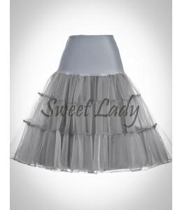 Sivá vintage sukňa 15