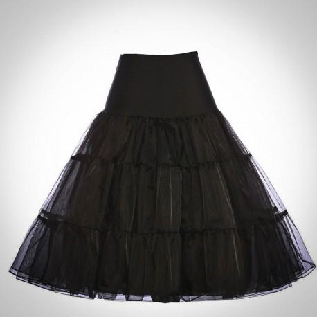 Čierna spodnička pod retro šaty 8