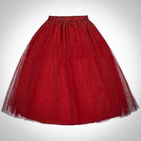 Červená retro spodnička 10
