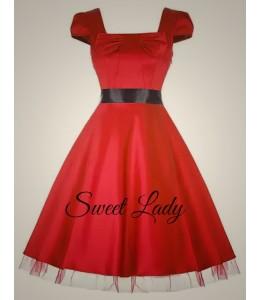 Elegantní červené šaty v stylu vintage
