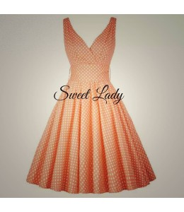 Jemné puntíkované šaty