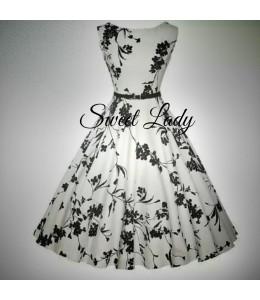 Bílé šaty z kvítky