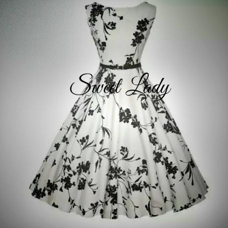 Biele šaty z kvietkami