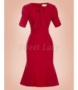 Elegantné úzke retro šaty 030