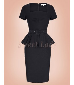 Elegantné úzke vintage šaty 033